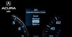 #AcuraTLX  INTEGRATED DYNAMIC SYSTEM (IDS)  El auto ofrece la posibilidad de elegir entre cuatro modos de conducción (Econ, Normal, Sport y Sport+). Esto permite personalizar tu experiencia de manejo de acuerdo a tus preferencias. Ya sea que quieras optimizar el rendimiento del combustible o llevar al máximo tu emoción, la decisión es tuya.   El botón IDS permite al conductor elegir entre los diferentes modos de manejo y verlos en formación.