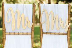 Gold chair signs