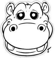 Hipopotamo Colorear 2 Mascara De Animales Caretas De Animales