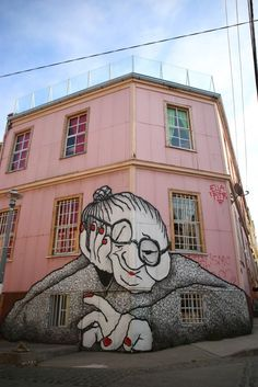 Valparaíso Street Art | Ginger Side of Life Street art at its best in Valparaiso, Chile. Just love this grandma series!: