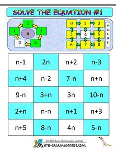 math algebra games solve the equation 1