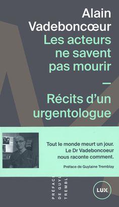 La médecine d'urgence n'est pas un travail sans histoires, le docteur Alain Vadeboncoeur en sait quelque chose. Exerçant ce métier depuis près de 25 ans, il a été le témoin de fins violentes, il a vu des personnes revenir de la mort, il a sauvé des vies in extremis, il a été confronté à de coriaces malades imaginaires, mais surtout, il a accompagné la douleur de ceux qui perdaient un proche et la joie de ceux qui l'échappaient belle. Cette expérience lui donne une vision sensible et ...