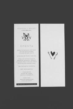 ADORO: Grafismo de casamento- Menu // Wedding graphics - Menu