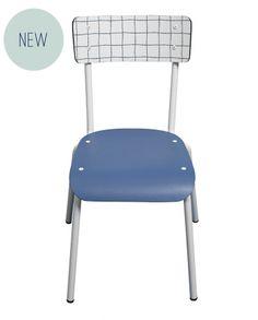 chaise suzie check imprimé carreaux blancs 50s retro design