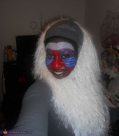 Rafiki Costume - OMG I can't stop laughing at this!!!!!!!!!  LOL Did she hold a stuffed Simba doll in the air too as the Circle of Life played in the background?