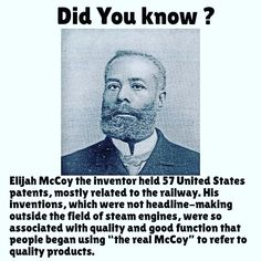 history facts Ladies and Gentlemen here's the Real McCoy Black History Quotes, Black History Books, Black History Facts, Black History Month, We Are The World, In This World, African American Inventors, Interesting History, African American History