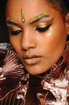 Bollywood inspirational make-up - © Zandra Rhodes, fror her spring/summer 2013 show.