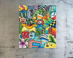 Pop Art Graffiti Style Original Painting & Prints by kfirtager Modern Art For Sale, Modern Pop Art, Graffiti Styles, Graffiti Art, Original Art, Original Paintings, Painting Prints, Art Prints, Grafiti