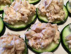 Tuna Salad on Cucumber Crackers