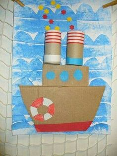 we life is good Kids Crafts, Summer Crafts For Kids, Spring Crafts, Projects For Kids, Diy For Kids, Arts And Crafts, Paper Crafts, Diy Paper, Kindergarten Art