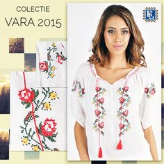 Romanian Label aduce in tinutele de zi cu zi o noua colectie de ii cu motive traditionale romanesti. #iiromanianlabel #newcollection Peasant Blouse, Floral Tops, Crafty, My Style, Collection, Dresses, Women, Fashion, Embroidery