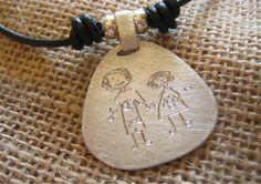 Chapa de plata artesanal personalizada. Joyería artesanal