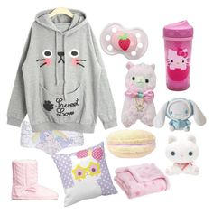 """Sweet dreams"" by super-kawaii-zoe ❤ liked on Polyvore featuring Topshop, H&M, Hello Kitty and Carter's"