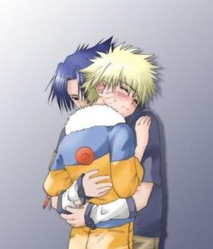 (Sasuke Naruto) hehehe naruto is blushing yayyyy:)