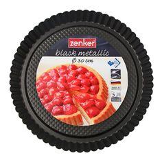 Fekete kerek tapadásmentes gyümölcstorta forma