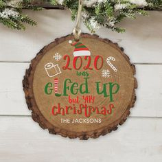 2020 may not not gone according to plan but you can still celebrate Christmas with your loved ones and remember this year with smiles with a fun personalized ornament #funnychristmasornaments #personalizedchristmasornaments #woodornaments #christmasornaments Funny Christmas Ornaments, Christmas Quotes, Christmas Fun, Christmas Decorations, Photo Ornaments, Painted Ornaments, The Jacksons, Personalized Christmas Ornaments, Diy