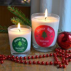 Bougies parfumées spéciales Noël