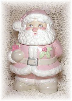 Pink Santa Cookie Jar