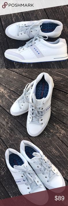 ECCO Luxury Golf Shoes Grey/Blu/Taupe 46Euro Brand New Luxury  Golf Shoes  Beautiful muted colors w a royal blue punch 5 star rated casual hybrid Ecco Shoes Sneakers