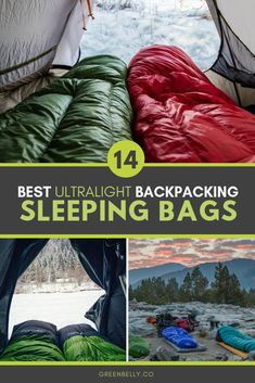 Gear guide to the best ultralight backpacking sleeping bags. Down and synthetic fills, zipperless quilts and mummy bags tested by Appalachian Trail and Pacific Crest Trail thru-hikers. Unless you are doing some alpine backpacking in sub zero temperatures, your bag should provide insulation without tipping the scale. #ultralight #backpacking #ultralightgear #thruhiking #hiking