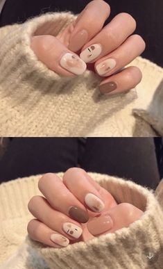 Try a new nail design that you simply like. Don't care about the trend of nail art. 57 top nail designs will give you new inspiration.Whether you plan to DIY your nail design at home or take the inspiration to a technician, these Simple Nail Art Designs, Colorful Nail Designs, Cute Nail Designs, Colorful Nails, Korean Nail Art, Korean Nails, Minimalist Nails, Nail Swag, Hair And Nails