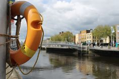 The River Liffey which divides Dublin in twine