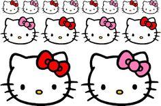 pegatinas cara de hello kitty