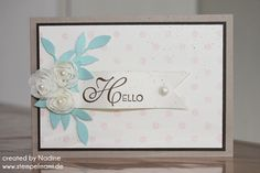 Grusskarte Greeting Card Stampin Up Lacey and Lovely 001