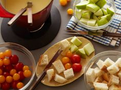 Cheese Fondue Recipe : Tyler Florence : Food Network - FoodNetwork.com