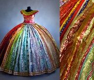 dress from candy wrappers