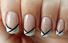 black-and-white-french-nails.jpg (600×387)