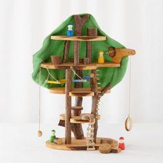 Waldorf peg doll treehouse