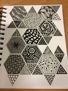 draw drawing mandala designs simple zentangles doodles zentangle patterns doodle drawings zen easy pattern sampler tangles super source patrones garabatos
