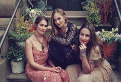 Lola, Jemima and Domino Kirke by Pamela Hanson
