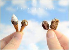 video tutorial - polymer clay ice cream cones by FatalPotato on deviantART~ lots of food tutorials!