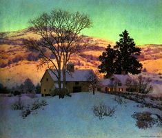Afterglow by Maxfield Parrish, 1947.