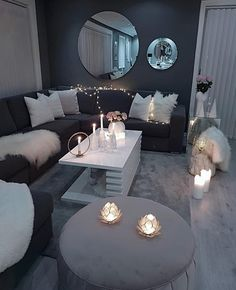 Decorate your living room with these 14 inspiring wall ideas - Block S . - Decorate your living room with these 14 inspiring wall ideas – Block Shades - Living Room Decor Cozy, Home Living Room, Living Room Designs, Bedroom Decor, Classy Living Room, Decor Room, Room Decorations, Lights For Living Room, Black Living Room Furniture