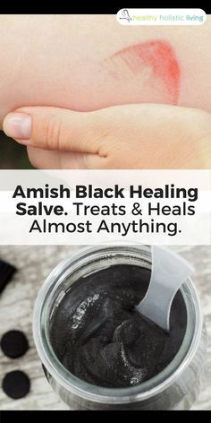 Made of essential oils and activated charcoal, this healing salve has been used for generations to pull toxins out of your body. Here's how to make it. #healthyliving #skintags #blacksalve #amish #toxins #essentialoils #activatedcharcoal