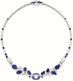 Diamonds in the Library: Art Deco sapphire and diamond necklace, Cartier.