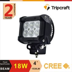 Factory direct 4inch 18w led pod straight 18w crees 4x4 offroad wholesale led light bars off road crees led light bar