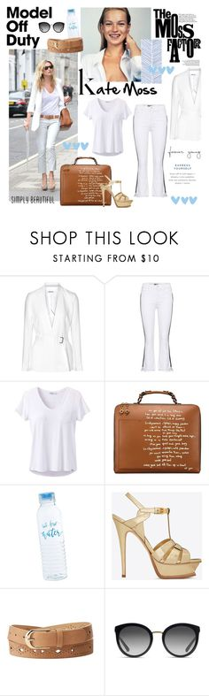 """""""Kate Moss Off Duty"""" by taci42 ❤ liked on Polyvore featuring Helmut Lang, Mother, prAna, Tory Burch, Yves Saint Laurent, Charlotte Russe and Dolce&Gabbana"""