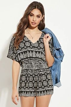 Medallion Print Romper | Forever 21 #thelatest