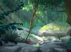 "tycarterart: "" A color key from Epic "" Concept Art Landscape, Fantasy Landscape, Landscape Art, Scenery Background, Animation Background, Art And Illustration, Art Environnemental, Art Et Nature, Wie Zeichnet Man Manga"