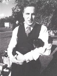 Ben Willbond with Martha's dog.