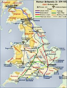 The Roman Invasion of Britain Map Of Britain, Roman Britain, Genealogy Chart, World History, Romans, Celtic, Fun Facts, England, Ads