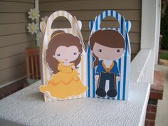 Belle and Her Guy Inspired Gable Favor Boxes Set of 12 by zbrown5, $14.40