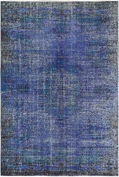 5'8 x 8'5 Turkish Overdyed Rug Blue by LavenderRugs on Etsy $495