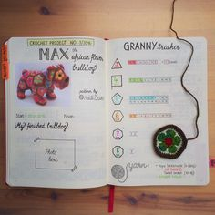 """162 Likes, 10 Comments - Mary J. (@maryj13) on Instagram: """"As you probably know I totally love to crochet. Since I'm using a bullet journal I also track my…"""""""