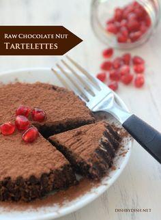 Raw Chocolate Nut Tartelettes #glutenfree #grainfree #paleo