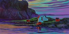 Young Studios is a gallery and studio owned and operated in Fogo Island Newfoundland by Adam Young. Fogo Island Newfoundland, Newfoundland Canada, Adam Young, Young Art, Artsy Fartsy, My Friend, Illustration Art, Illustrations, Whimsical